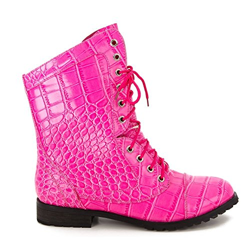 Alexa (Lace Up Pink Boots)