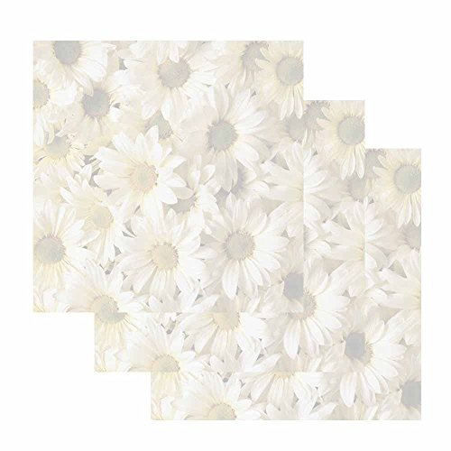 Daisy Design Paper (Daisies Sticky Notes - Set of 3 - Flower Design Floral Theme - Stationery Gift - Paper Memo Pad - Office Business School Supplies)