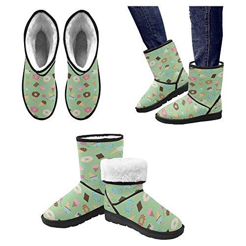 Scarponi Da Neve Womens Interestprint Stivali Invernali Comfort Dal Design Esclusivo Multi 20