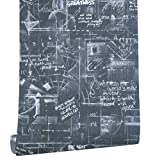HaokHome 372301 Faux Blackboard Wallpaper Black/White for Home Kitchen Accent Wall Decor 20.8''x 33ft