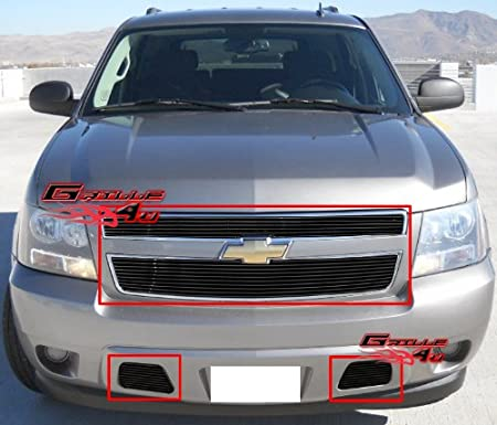 APS Fits 2007-2014 Chevy Tahoe/Suburban/Avalanche Billet Grille Grill Insert Combo # C67919A