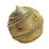 8CM Christmas Luxurious Rhinestone Glitter Baubles Balls Xmas Tree Ornament Decoration (Gold)