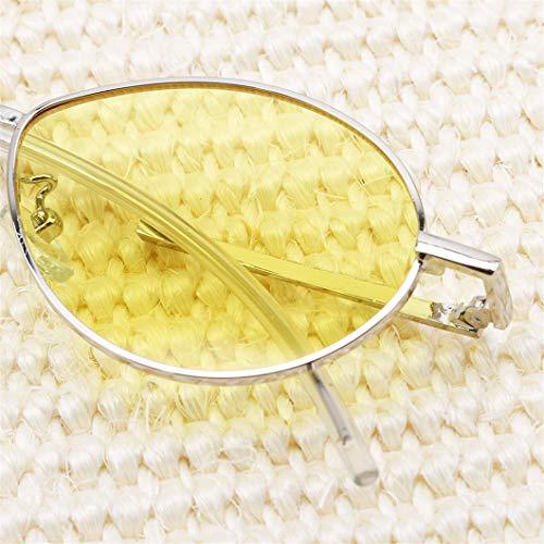 Deliv Small Et À Women Filles Sunglasses Jambe De Pour Jaune Courbée Rouge Femmes Ovales Soleil Lunettes aq4TWnq