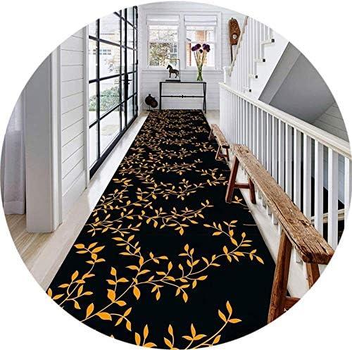 YANAN-廊下ランナー カーペットランナーのために廊下シンプルなヨーロピアンスタイルブラックボトムゴールドリーフキッチン廊下カーペットの耐摩耗耐久性 ロングカーペット (Size : 0.5×5m)