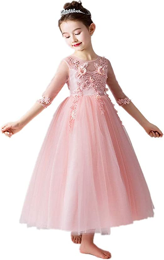 Flower Princess Girls Dresses Homecoming Dance Party Wedding Bridesmaid Birthday