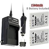 NEW Charger + 2 Battery FOR NIKON COOLPIX S7c S1 S2 S3 EN-EL8 ENEL8 + car plug