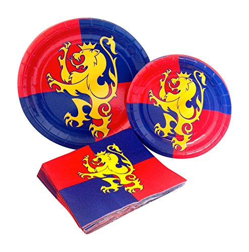 Medieval Party Supply Pack! Bundle Includes Paper Plates & Napkins for 8 -