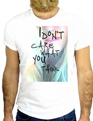 T SHIRT Z1155 I DO NOT CARE WHAT YOU THINK COOL BEACH COLOR NICE USA AMERICA GGG24 BIANCA - WHITE XL