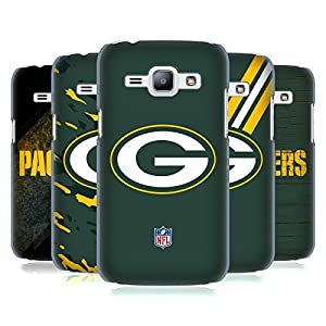 Official NFL Green Bay Packers Logo Hard Back Case for Samsung Galaxy J1 by Head Case Designs