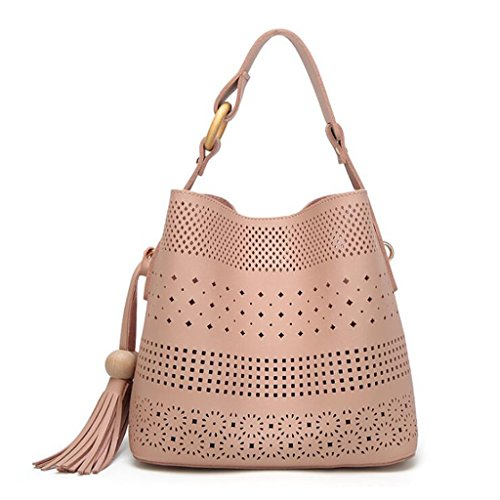 Uniti A Moda 24cm Stati 15 In Femminile Messenger Tracolla Liu dimensioni E colore Pink Hollow Negli Borsa 26 Europa Black Borse 5 wtqxUO0