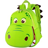 yisibo 3D Cartoon Kids Backpack, Waterproof Cute Toddler Backpack: Hippo Green