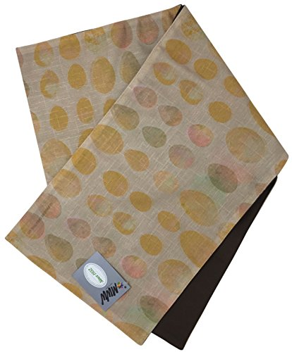 (Manual Aviary Colored Eggs Textured Polyester Lined Tablerunner SAVR72 13x72