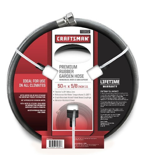Craftsman 50 Foot x 5/8-Inch RUBBER GARDEN HOSE - MADE IN US