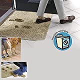 Clean Step Mat Super Absorbent Doormat As Seen On Tv Color Brown size 18