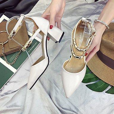 Talón Paseo Verano Con ggx Stiletto Noche Básico De Y Hebillatacón Tacones Pump Suelas Fiesta Luz Mujer Khaki Pu Vestido Lvyuan 6qBzwTz