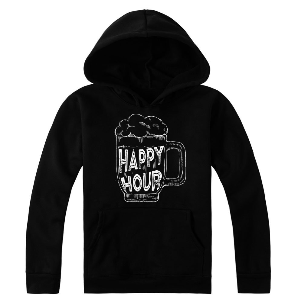 idcommerce Happy Hour Nice Glass of Beer Women's Hoodie Pullover Large