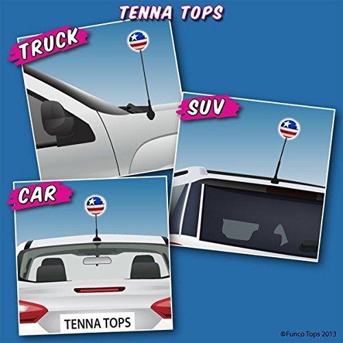 Rear View Mirror Dangler Tenna Tops 5 Pc American USA Patriotic Flag Car Antenna Topper Antenna Ball Auto Accessory