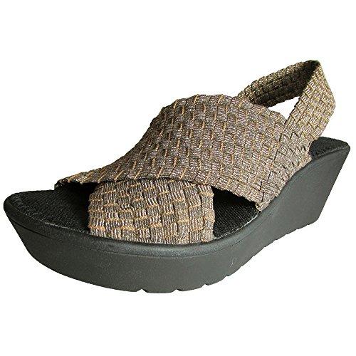 (Steven Women Batina Wedge Sandal Shoe, Bronze, US 7.5 )