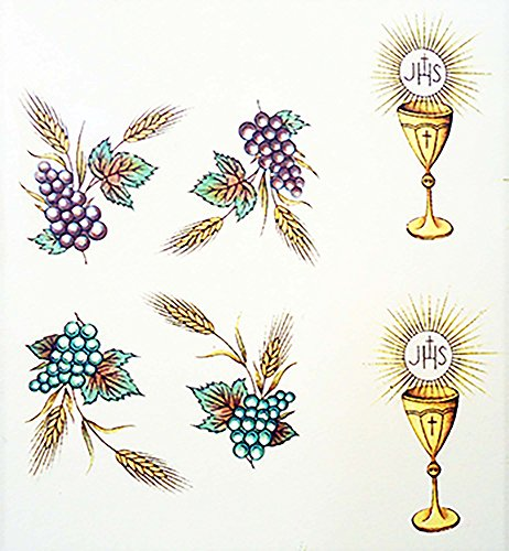 """Communion Challis Grape Cluster # 9583 Waterslide Ceramic Decals By The Sheet (1 1/2"""" X 1"""" 86 pcs)"""