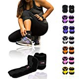 Xn8 Sports Neoprene Ankle Weights Border Wrist Weights Adjustable Strap Resistant Leg Wrist Running Cross Fitness Gym Training Exercise (Black, 1.5Kg Set = (1.5 * 2 = 3Kg))