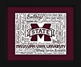 Mississippi State University 16x20 Art Piece - Beautifully matted and framed behind glass