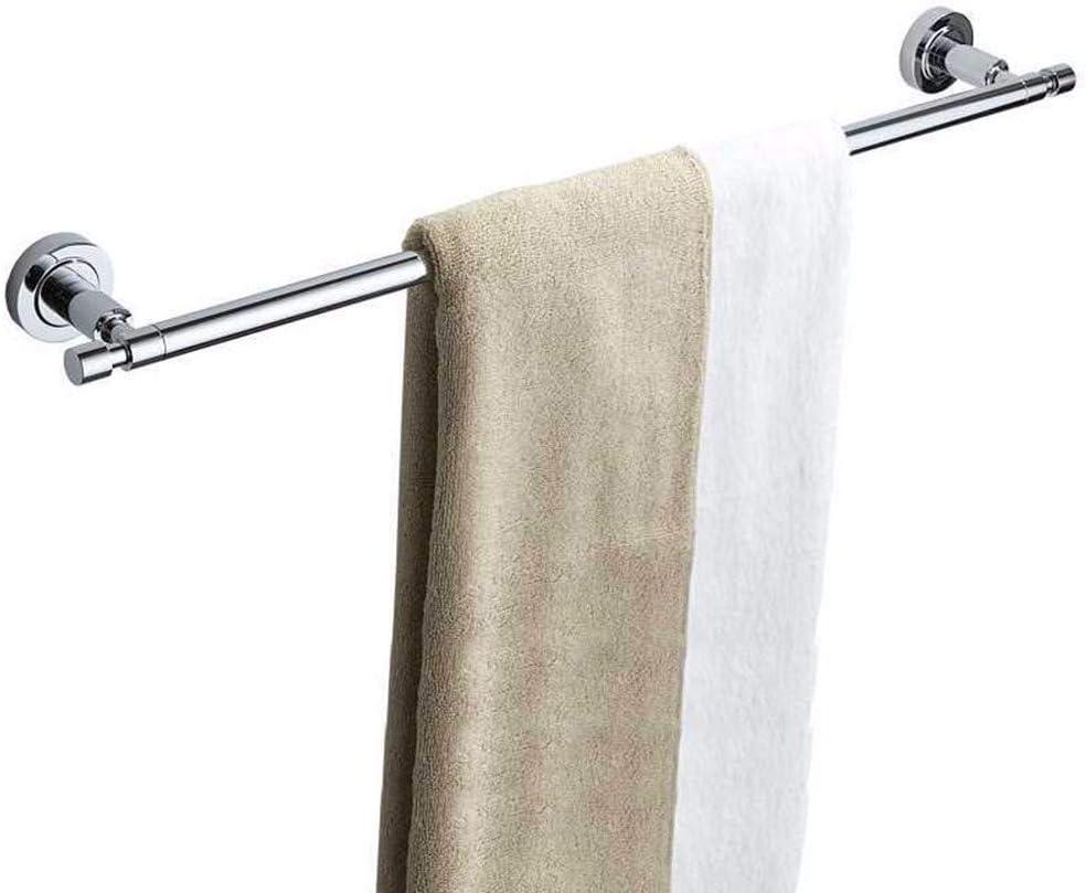 Durable Stainless Steel Bathroom Single Towel Rail Rack Bar 50cm Wall Mounted