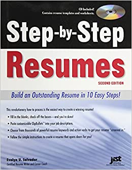 step by step resumes  build an outstanding resume in  easy steps    step by step resumes  build an outstanding resume in  easy steps   nd ed  evelyn u salvador      amazon com  books