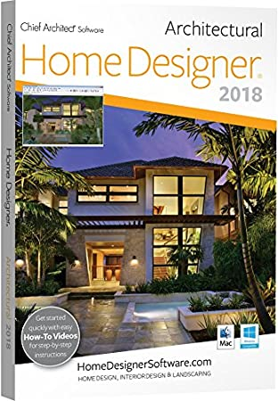 Chief Architect Home Designer Architectural 2018 - DVD/Key Card