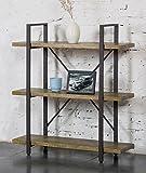 O&K Furniture 3 Shelf Rustic Bookshelf and Bookcase