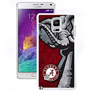 Nice and Unique Note4 Case Design with Alabama Crimson Tide 3 White Case for Samsung Galaxy Note 4 N910S N910C
