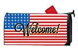 Personalized Mailbox Cover Humor, Standard Size Mailbox Wrap with Aircraft American FLA