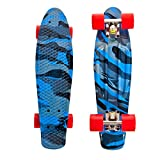 "High Bounce Complete 22"" Skateboard (Blue Camo)"