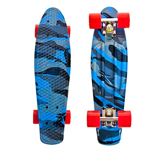 High Bounce Complete 22' Skateboard (Blue Camo)