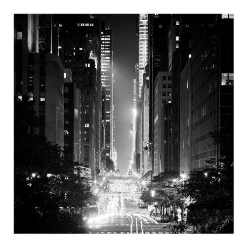 42nd Street Adam Garelick New York Photograph B&W Cityscape Print Poster - W York Street New 42nd
