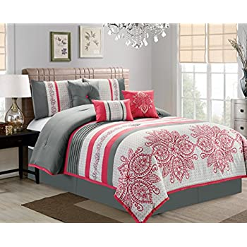 grey black line and queen sets comforter pink twin