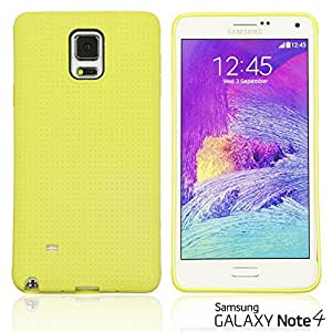 LJF phone case OnlineBestDigital - Colorful Hard Back Case for Galaxy Note 4 - Yellow