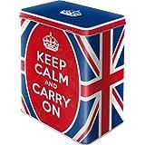 Nostalgic-Art 30128 Barattolo di metallo per alimenti – Keep Calm and Carry On