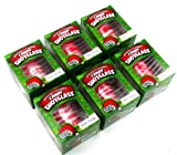 Peppermint Flavored Candy Cane Edible Shot Glass in Gift Box with (New Year Celebration Candy Shot Glasses New Years) (Includes 6 Shot Glasses)