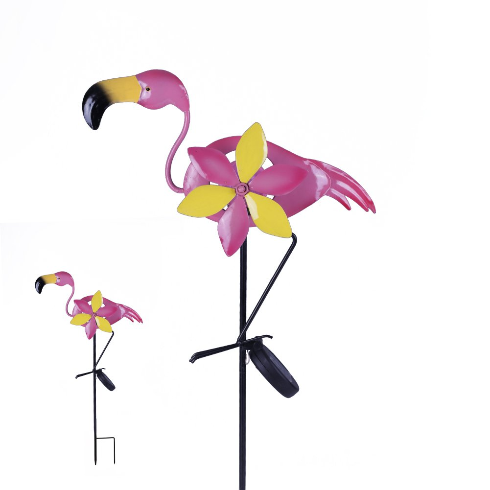 Hannah's Cottage 27.7'' Solar Flamingo Garden Metal Stake, Decorative Solar Light For Garden, Patio, Backyard and Outdoor, Outdoor Paradise (Pink) by Hannah's Cottage
