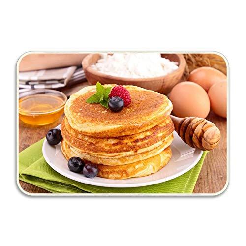 - FnLiu Machine-Washable Door Mat Delicious Pancakes Raspberry Honey Indoor/Outdoor Decor Rug Doormat 20 by 32