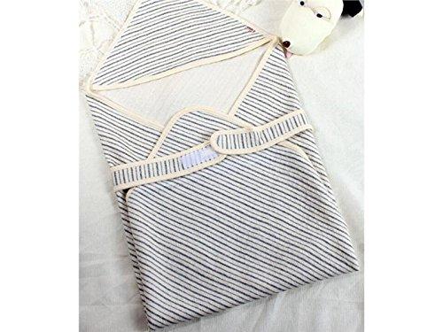 Recién nacido Warm Thin Swaddle Sleeping Bag Stripe Manta de aire acondicionado para 0-3 meses Sacde dormir de invierno