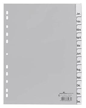 Durable 641010 - Separadores para archivador (A4, 12 ...