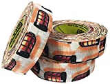 3 Rolls of Comp-O-Stik Goal Light Hockey Lacrosse Bat Cloth Stick Tape ATHLETIC TAPE (3 Pack) Made In The U.S.A. 1'' X 60'