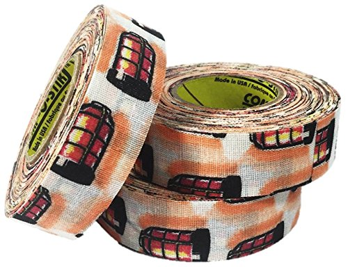 3 Rolls of Comp-O-Stik Goal Light Hockey Lacrosse Bat Cloth Stick Tape ATHLETIC TAPE (3 Pack) Made In The U.S.A. 1'' X 60' by Comp-O-Stik
