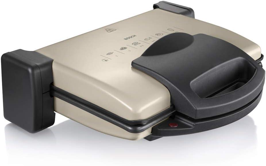 Bosch TFB3302V - Plancha y grill de 1800 W, Color Gris y negro