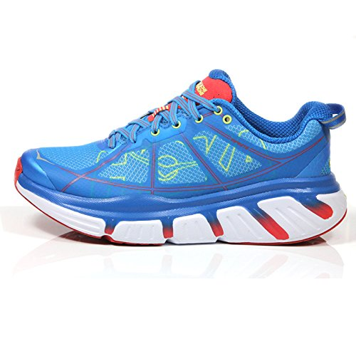 Hoka One One Infinite Running Sneaker Shoe  Dresden Blue Poppy Red  Womens   8