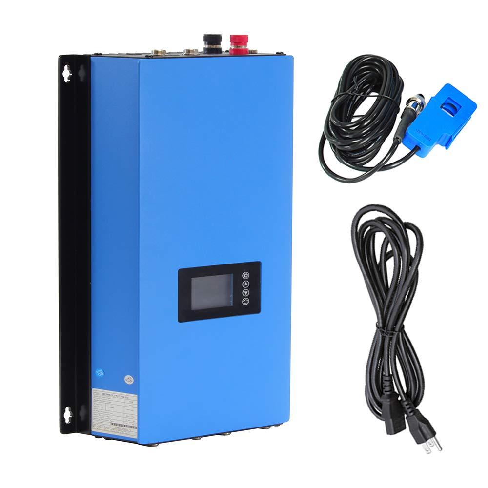 iMeshbean 1000W Solar on Grid Tie Inverter Power Limiter MPPT PV System DC 22-60V to AC90-140V / 220-240V Auto Selected Pure Sine Wave (DC 22V-65V)
