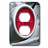 3dRose Alexis Photography - Transport Air - Red protective cover of a modern aircraft engine - Light Switch Covers - 2 plug outlet cover (lsp_267357_6)