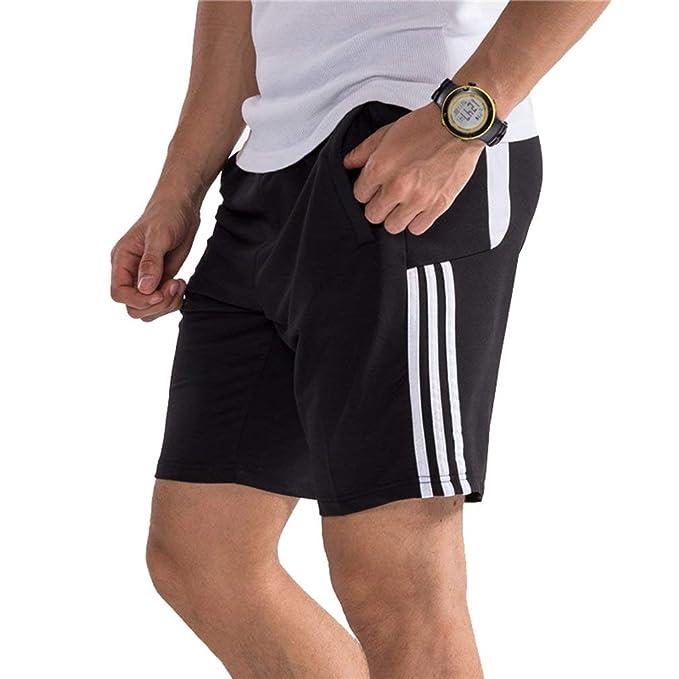 Pantalones Cortos De Hombres Raya Para Gimnasia Deporte Culturismo ...