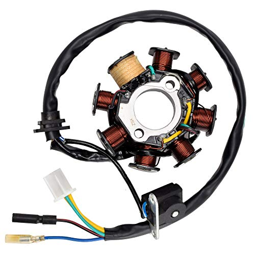 HIAORS 8 Coil Poles 5 Wires Ignition Stator Magneto for GY6 50CC 139qmb 60CC 80CC ATV Wolf Buyang Coolster Kazuma Sunl JCL NST Roketa Scooter TaoTao Paliden 150cc scooter